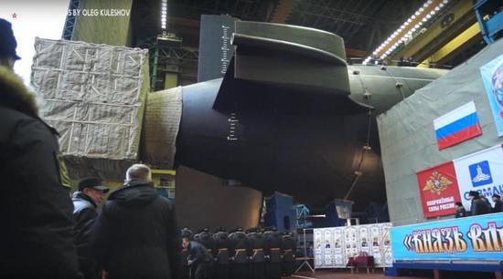 北德文斯克造船厂建造的弗拉基米尔大公号战略核潜艇