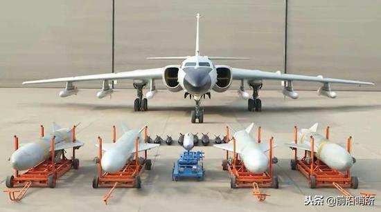 """轰-6K满挂导弹,与多栽武器""""同框"""""""