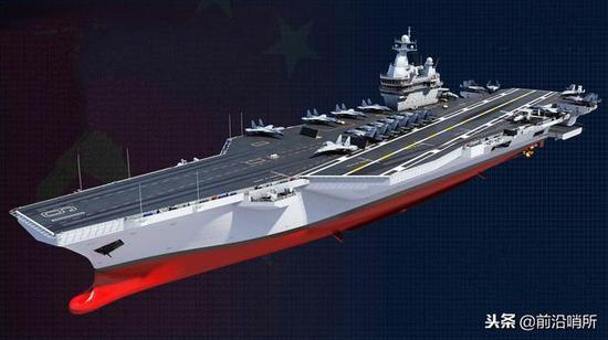 网友设计的中国第三艘航母CG图