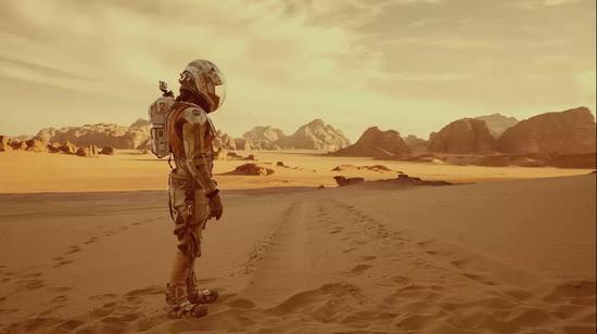 电影《火星救援》中的画面