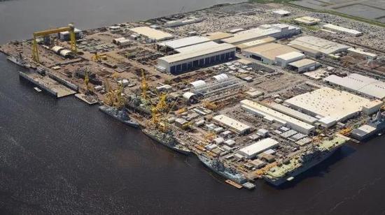 英格尔斯造船公司码头 图源:英格尔斯造船公司
