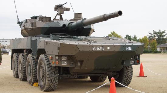 """日本版""""轮式合成营""""的火力中坚:16式机动战车"""