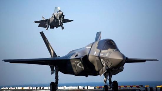 图为F-35B垂直起降战斗机