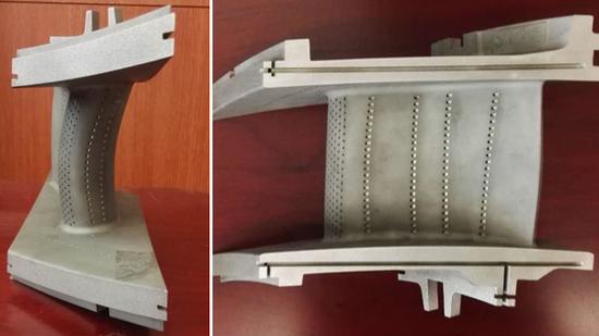 全三维复相符倾斜透平第优等静叶原料图 图片来自清华控股