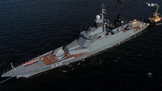 """◎俄罗斯海军宁靖洋舰队最新授与的""""清脆""""号导弹护卫舰"""