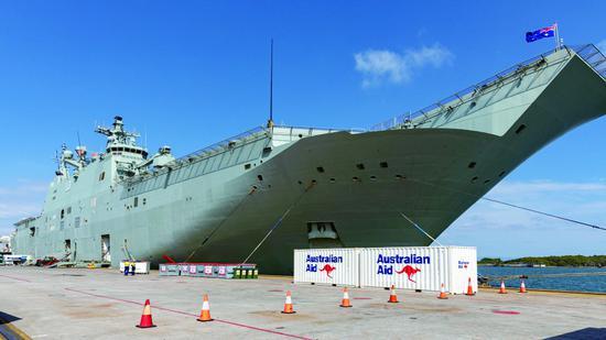 """澳海军两栖抨击舰""""阿德莱德""""号"""