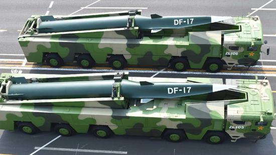 中国火箭军东风-17拙劣音速导弹