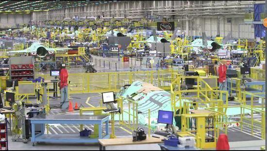 洛马F-35生产车间