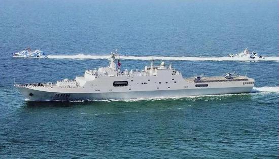 ▲中国的071型综相符登陆舰