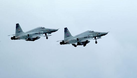 资料图:台军F-5E战机