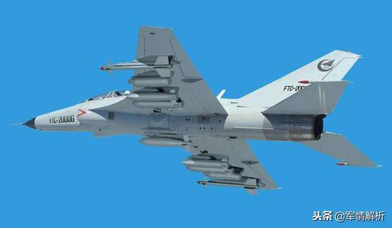 图为FTC-2000G战斗教练机