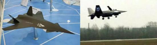 暗箭模型与实机试飞图的对比