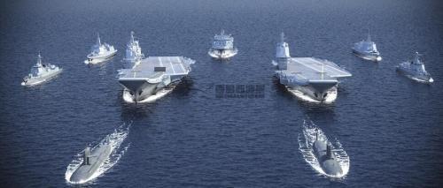 最强航母战斗群_中国两艘航母首同框 两者组编队能抗衡美一艘航母?|航母|舰载 ...
