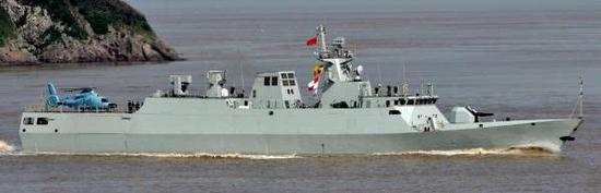 其排水量与中国海军056型基本相当
