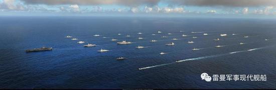 2016环太军演国际阅舰式