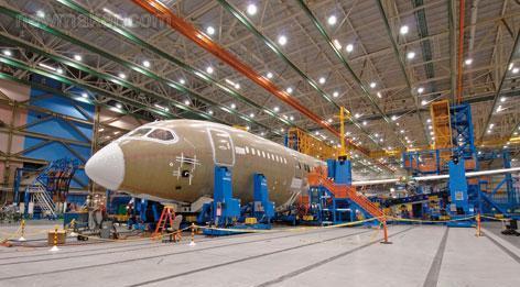 美國波音787部件的對接