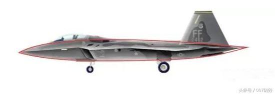 美国F22的剖面,专门柔美