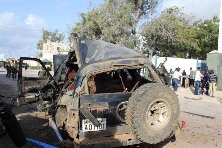 索马里军车爆炸现场
