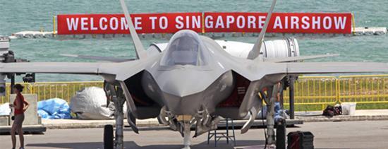 新加坡航展上展出的F-35 图自AINonline网站
