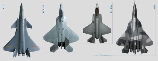 歼20战斗机在多款隐身战斗机中,外表别具一格,新意十足