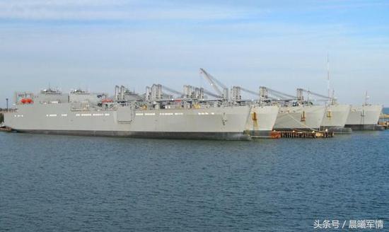 美军维持了重大的军用运输船队