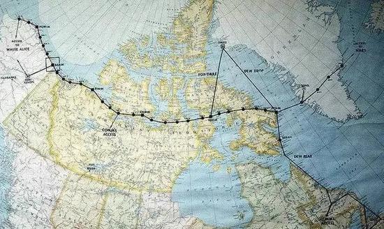 北美防空体系的退守节点连线