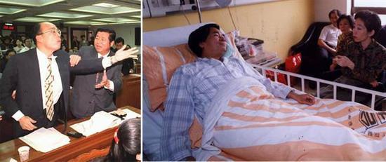 左:韩国瑜 右:陈水扁