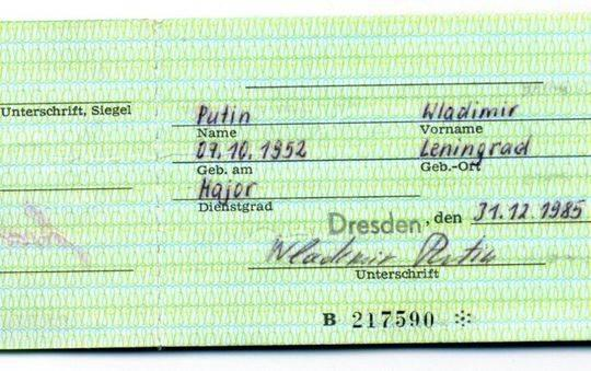 1985年至1990年,普京在德累斯顿为克格勃做事。