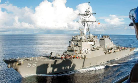 我军回应美舰穿航台湾海峡:全程组织兵力跟踪监视