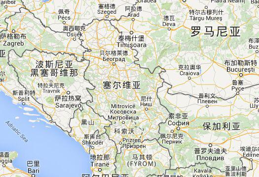 塞尔维亚地图(原料图)