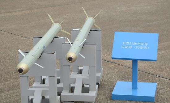 珠海航展公开的国产BRM1激光制导火箭弹