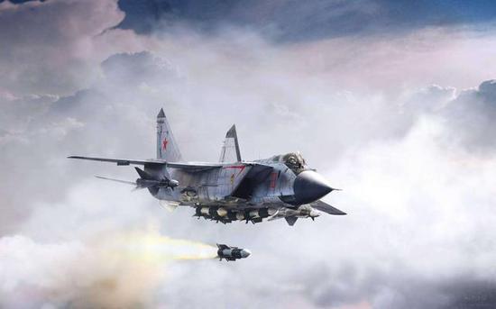 SU57无法挂载相通米格31截击机的长途导弹