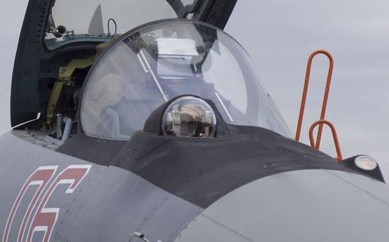 机头的光电大球做了升级,望样子不错,倚赖这个苏35在叙利亚上空望到了F22