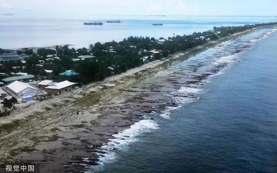 ▲海平面上升,使太平洋島國面臨巨大風險。
