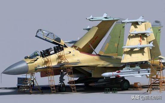 歼-15双座型舰载机CG图