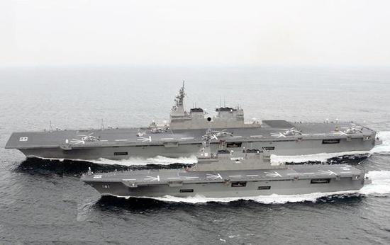 日本造的纵贯甲板军舰一艘比一艘大