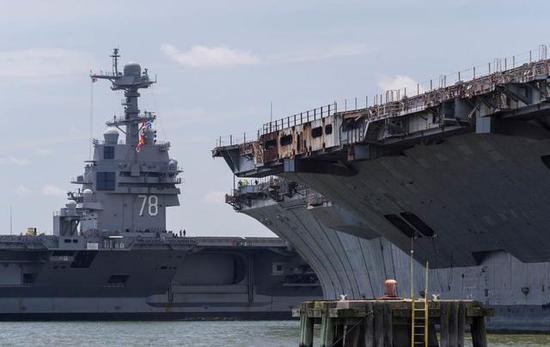 美军最新型航母交付后出海共81天 返回就要大修一年