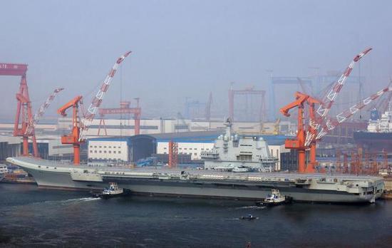 国产航母完成第五次海试
