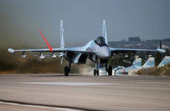 △RVV-SD/R-77-1在叙利亚首次实战,分别挂载在苏-35S和苏-27SM3战机上使用