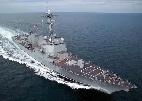 资料图:美海军基德号驱逐舰(DDG-100)