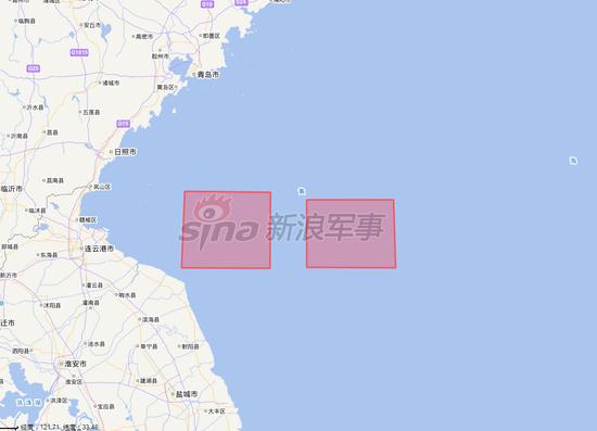 解放军29日起将在黄海中南部军演 禁航范围曝光(图)