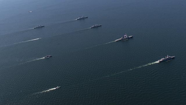 嚇唬俄軍?北約多國聯合艦隊黑海列隊浩浩蕩蕩