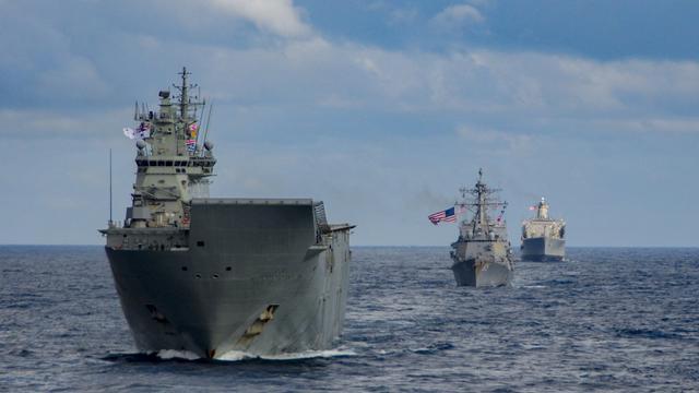 向我軍示威?美日澳加四國海軍舉行西太聯合演習