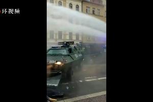 德国莱比锡爆发数千人抗议 警方出动