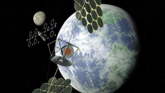 未来太空电站想象图