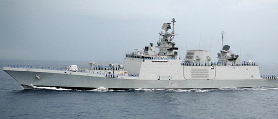 印度隐形护卫舰抵越南 将与越军在南海举行军演