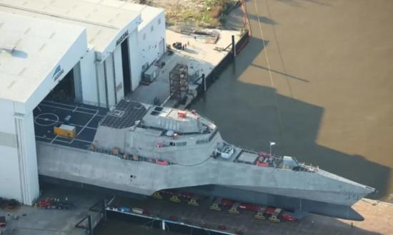 美军新濒海战斗舰举行命名仪式 唯一得名于外国首都