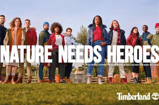NATURE NEEDS HEROES Timberland