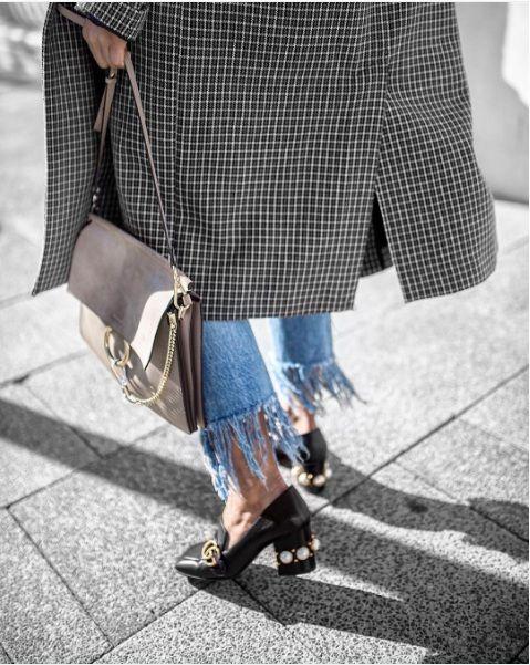 Gucci珍珠乐福鞋街拍