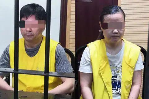 王振华、周燕芬在狱中受审画面(图源:央视消息)